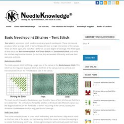 Basic Needlepoint Stitches - Tent Stitch - NeedleKnowledge