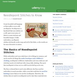 Needlepoint Stitches to Know