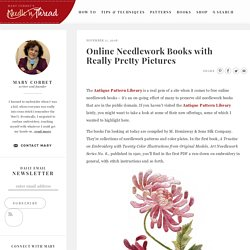 Online Needlework Books with Really Pretty Pictures – NeedlenThread.com