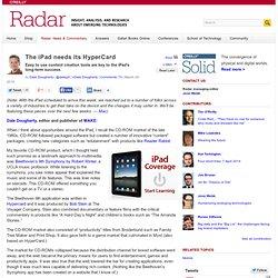 The iPad needs its HyperCard