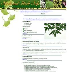 Neem - Medicinal Herb Info