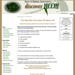 Neem Oil: Uses, Benefits, How Tos, KnowHow