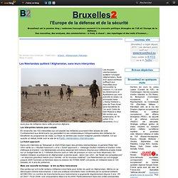 Les Néerlandais quittent l'Afghanistan, sans leurs interprètes