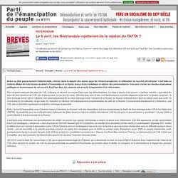 Le 6 avril, les Néerlandais rejetteront-ils le rejeton du TAFTA ?