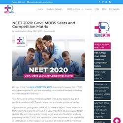 Total Govt. MBBS seats in NEET 2020