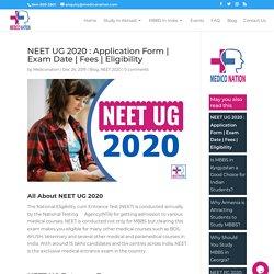 NEET UG 2020 : Application Form