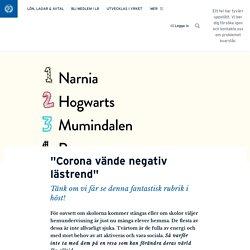 """""""Corona vände negativ lästrend"""" · Maria Björsell"""