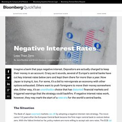 Negative Interest Rates - Bloomberg QuickTake