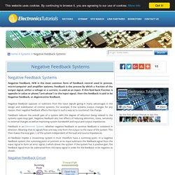 Negative Feedback and Negative Feedback Systems