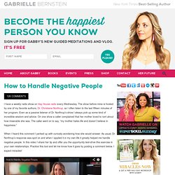 How to Handle Negative People