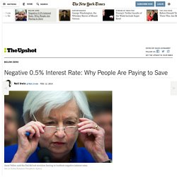 Negative 0.5% Interest Rate: Why People Are Paying to Save