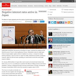 Negative interest rates arrive in Japan
