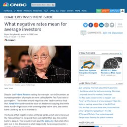 What negative interest rates can do to US stock market