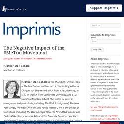 The Negative Impact of the #MeToo Movement - Imprimis