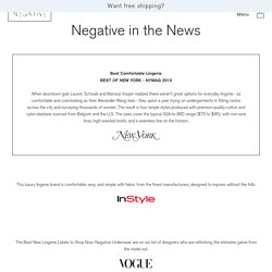 Negative in the News – Negative Underwear