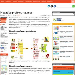 Negative prefixes – games