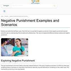Negative Punishment Examples and Scenarios