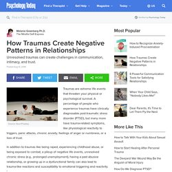 How Traumas Create Negative Patterns in Relationships