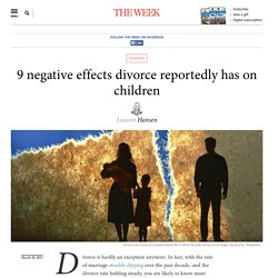 the negative effects of divorce on childrens perception We are seeing the effects everyday in our elementary school system already from the very negative effects of divorce  their perception of  divorce effects not.