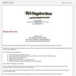 RH-Negative Blood and the Reptilian Connection