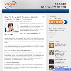 How To Deal With Negative Google Reviews for Local Businesses