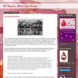 Rh Negative Blood Type Secrets: Ancient Bloodline