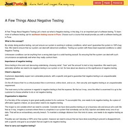A Few Things About Negative Testing - justpaste.it