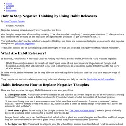 How to Stop Negative Thinking by Using Habit Releasers