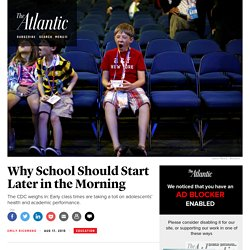CDC Warns: Early School Start Times Could Negatively Affect Sleep-Deprived Students' Health and Academic Performance