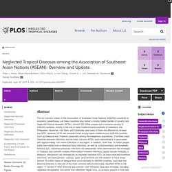 PLOS 16/04/15 Neglected Tropical Diseases among the Association of Southeast Asian Nations (ASEAN): Overview and Update