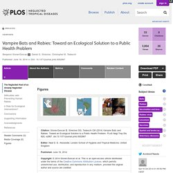 PLOS 19/06/14 Vampire Bats and Rabies: Toward an Ecological Solution to a Public Health Problem