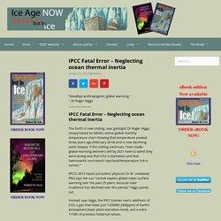 IPCC Fatal Error - Neglecting ocean thermal inertia