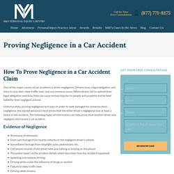 Proving Negligence in a Car Accident - M&Y Personal Injury Lawyers