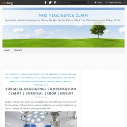 Surgical Negligence Compensation Claims