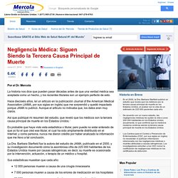 Negligencia Médica: La Tercera Causa Principal de Muerte