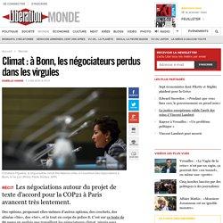 Climat: à Bonn, les négociateurs perdus dans les virgules