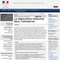 La négociation collective dans l'entreprise