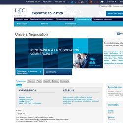 Formation Négociation commerciale - HEC Paris