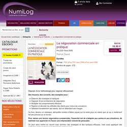 La négociation commerciale en pratique eBook: Patrick David