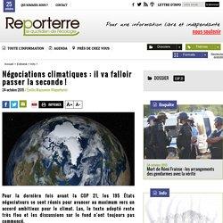 Négociations climatiques: il va falloir passer la seconde!