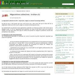 Négociations collectives : le bilan (II)