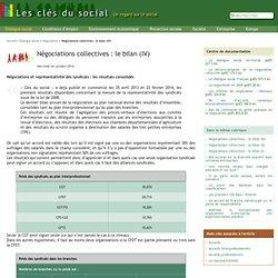 Négociations collectives : le bilan (IV)