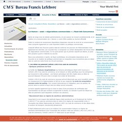 Loi Hamon – volet « négociations commerciales »