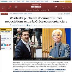 Wikileaks publie un document sur les négociations entre la Grèce et ses créanciers