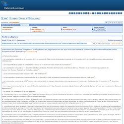 Textes adoptés - Jeudi 23 mai 2013 - Négociations en vue d'un accord en matière de commerce et d'investissement entre l'Union européenne et les États-Unis - P7_TA-PROV(2013)0227