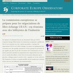 La commission européenne se prépare pour les négociations de libre-échange UE-US : 119 réunions avec des lobbyistes de l'industrie