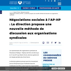 Négociations sociales à l'AP-HP : La direction propose une nouvelle méthode de discussion aux organisations syndicales