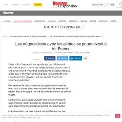 Les négociations avec les pilotes se poursuivent à Air France