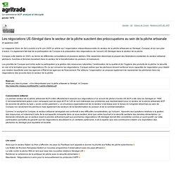 AGRITRADE AOUT 2005 Les négociations UE-Sénégal dans le secteur de la pêche suscitent des préoccupations au sein de la pêche art
