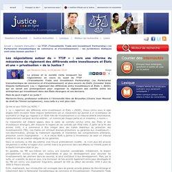 TTIP : négociations & règlement des différends entre investisseurs et États